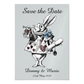 不思議の国の白いウサギの日付カードのヴィンテージアリス マグネットカード