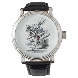 不思議の国の白いウサギの腕時計のヴィンテージアリス 腕時計
