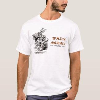 不思議の国の白のウサギ Tシャツ