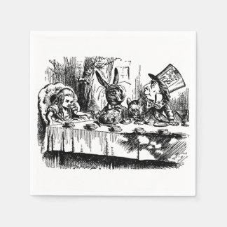 不思議の国の紙ナプキンの絵アリス スタンダードカクテルナプキン