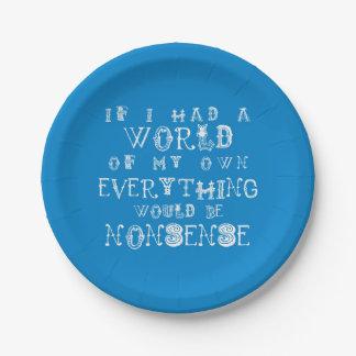 不思議の国の紙皿のナンセンスのアリス ペーパープレート