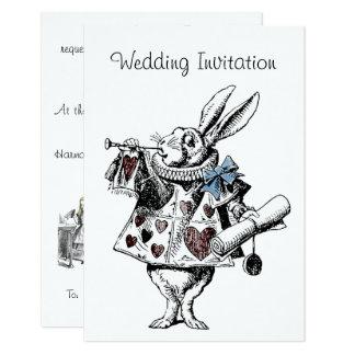 不思議の国の結婚式招待状カードのアリス 8.9 X 12.7 インビテーションカード