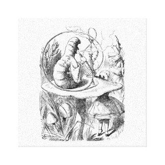 不思議の国の腕時計-幼虫のアリス キャンバスプリント