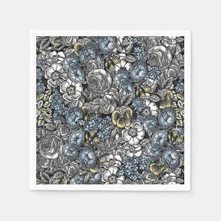 不思議の国の花の庭のナプキンのアリス スタンダードカクテルナプキン