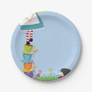 不思議の国の誕生会の紙皿のアリス ペーパープレート