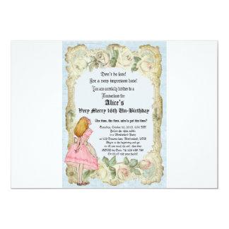 不思議の国の誕生日の招待のアリス カード