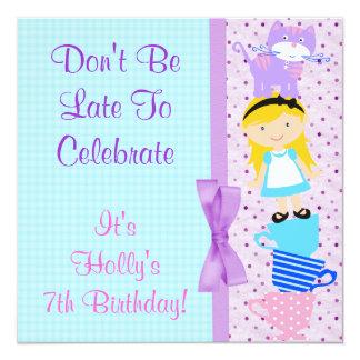 不思議の国の誕生祝いのアリス カード