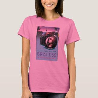 不思議の国の長い袖のティーでBraless Tシャツ