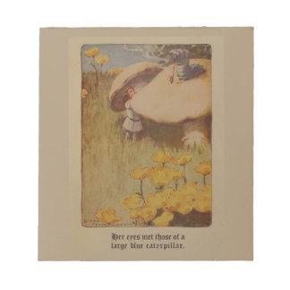 不思議の国の1907年のイラストレーションのメモ帳のアリス ノートパッド