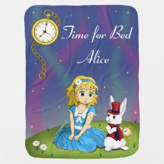 """不思議の国の""""ベッドの時間""""毛布のアリス ベビー ブランケット"""