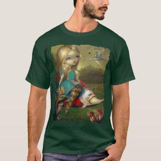 不思議の国のBoschの鳥のワイシャツの無教養な人のゴシックのアリス Tシャツ