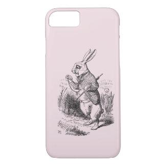不思議の国のiPhone 7の場合の白いRabbit_Alice iPhone 8/7ケース