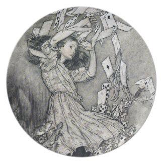 不思議の国カード攻撃Rackhamのアリス ディナー皿