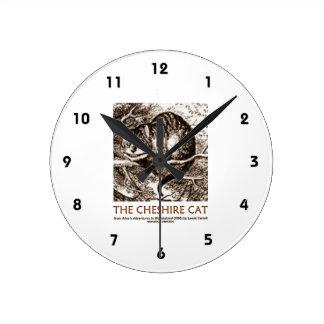 不思議の国チェシャー猫(お洒落な) ラウンド壁時計