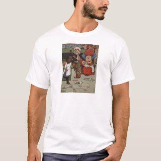 不思議の国場面4のアリス Tシャツ