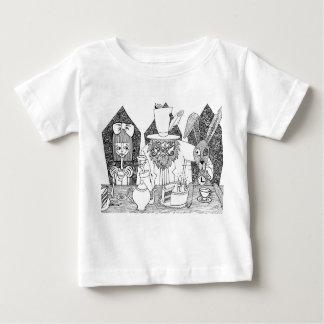不思議の国-お茶会のアリス ベビーTシャツ