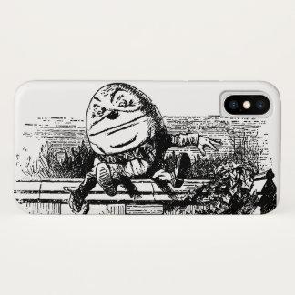不思議の国、壁のHumpty Dumptyのヴィンテージアリス iPhone X ケース