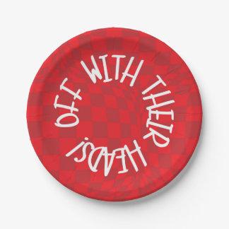 不思議の国-赤いプレート-のアリスハートの女王 紙皿 小