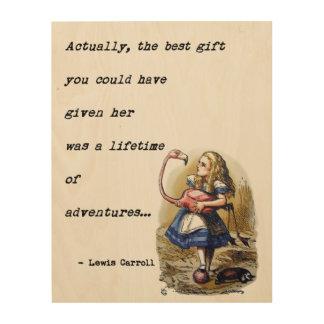 不思議の国W/Flamingoの冒険の引用文のアリス ウッドウォールアート