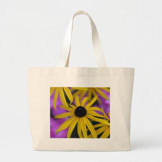 不断のconeflower (ルドベキアのfulgida) ラージトートバッグ