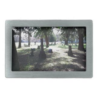 不明瞭な墓地 長方形ベルトバックル