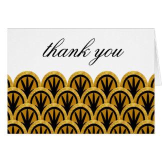 不朽のアールデコはメッセージカード感謝していしています カード