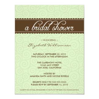 不朽のブライダルシャワーの招待(賢人かチョコレート) カード