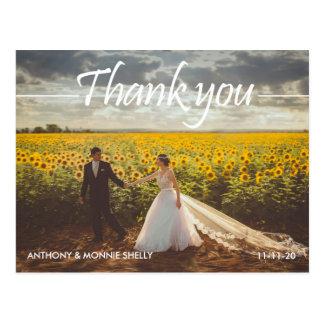 不朽の2つの写真の結婚式は郵便はがき感謝していしています ポストカード