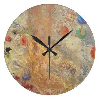 不朽彼の青年CC0028のオディロン・ルドン仏 ラージ壁時計