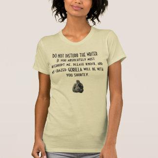 不機嫌な作家のTシャツ Tシャツ