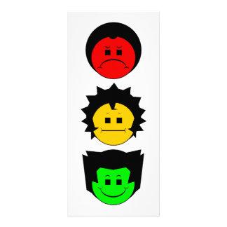 不機嫌な信号のトリオの垂直顔 ラックカード