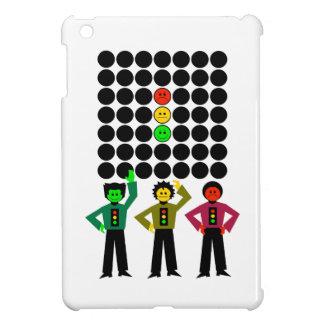 不機嫌な信号のトリオwの不機嫌な信号の黒は点を打ちます iPad mini カバー