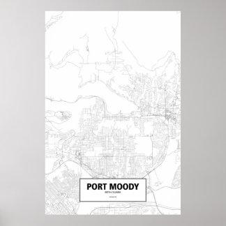 不機嫌な港ブリティッシュ・コロンビア(白の黒) ポスター