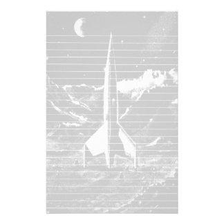 不毛の惑星のレトロロケット 便箋