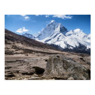 不毛の景色およびSnowy山(ヒマラヤ山脈) ポストカード