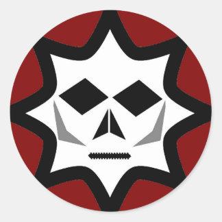 不気味なロゴ ラウンドシール