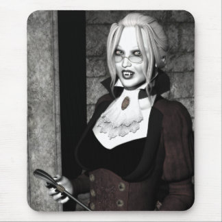 不気味な主婦のゴシック様式吸血鬼の芸術のマウスパッド マウスパッド