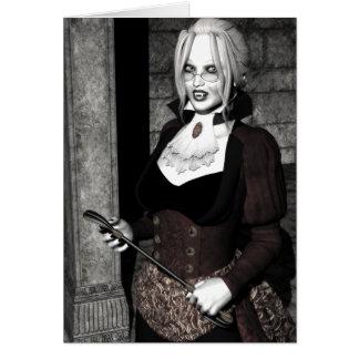 不気味な主婦のゴシック様式吸血鬼 カード
