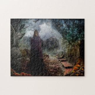 不気味な気色悪いお化け屋敷および幽霊の所有者- ジグソーパズル