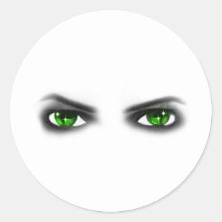 不気味な緑の瞳 ラウンドシール