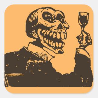 不気味: Dia de los Muertos -トースト スクエアシール