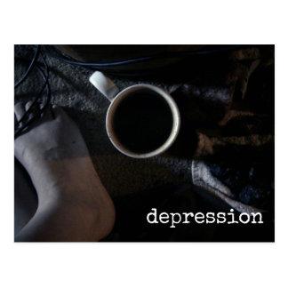 不況の認識度の暗い悲しさの感情 ポストカード