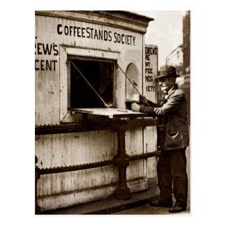 不況時代1のペニーのコーヒー立場 ポストカード