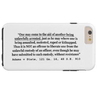 不法な阻止のアダムスvの州121 Ga 16 48 SE 910 Tough iPhone 6 Plus ケース