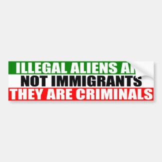 不法入国者は移民ではないです! バンパーステッカー