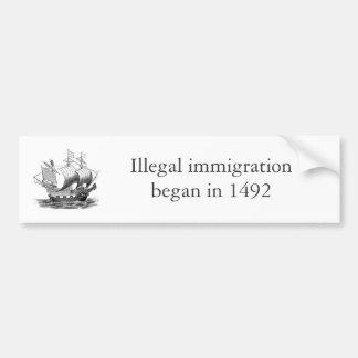 不法移民1492年 バンパーステッカー