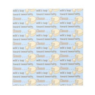 不滅の方のチーズ…ミルクの跳躍 ノートパッド