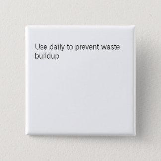 不用な集結ボタンを防ぐのに日刊新聞を使用して下さい 5.1CM 正方形バッジ