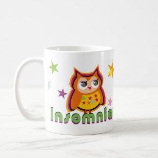 不眠症のフクロウのコーヒー・マグ コーヒーマグカップ