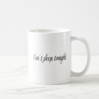 不眠症は表現FRUSTRATI今夜眠ることができません コーヒーマグカップ